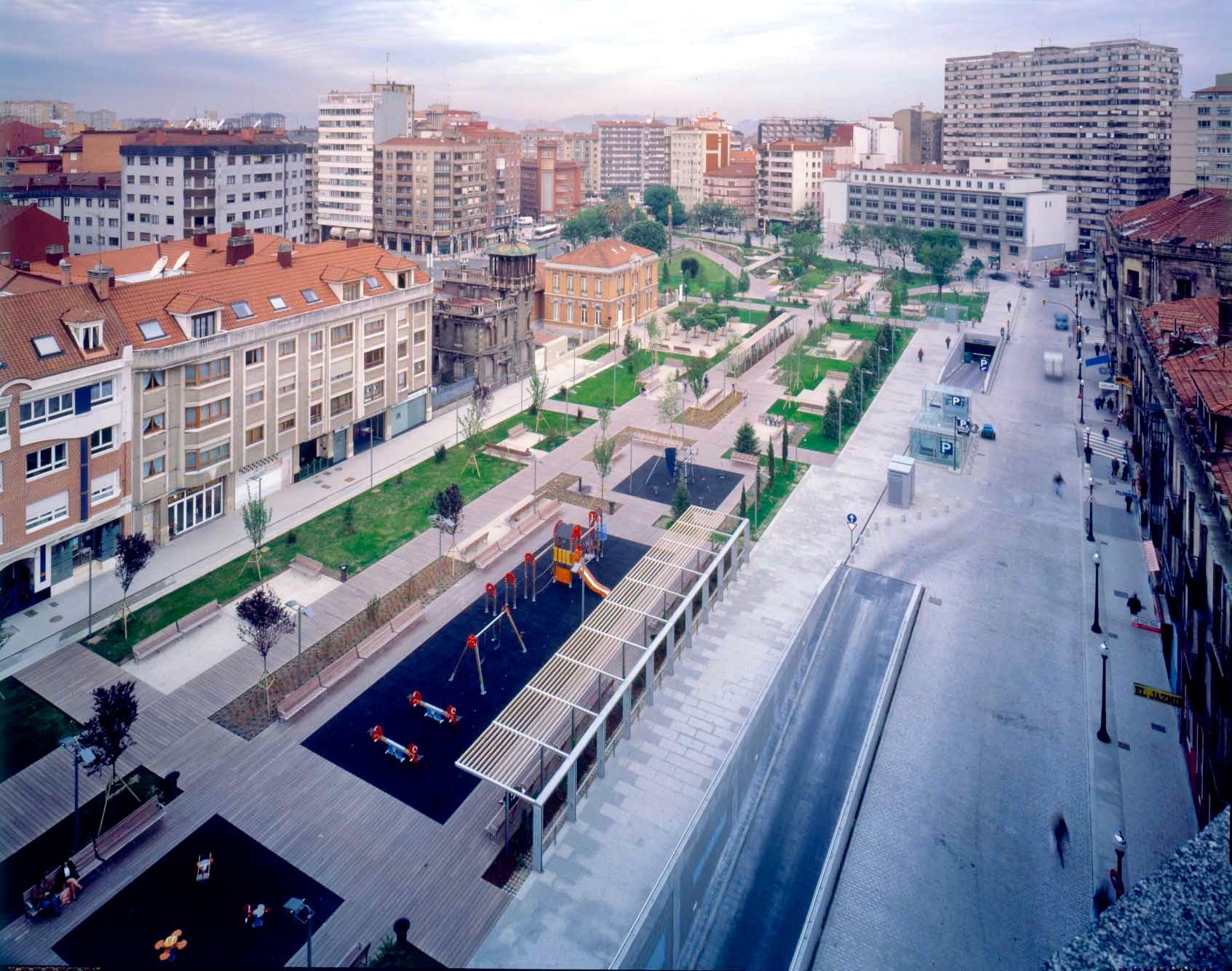 Reforma del área de la Puerta de la Villa en Gijón